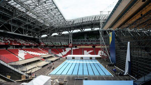 Плавательный бассейн на стадионе Казань Арена в Казани. Архивное фото