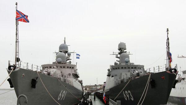 Ракетные корабли Татарстан и Дагестан