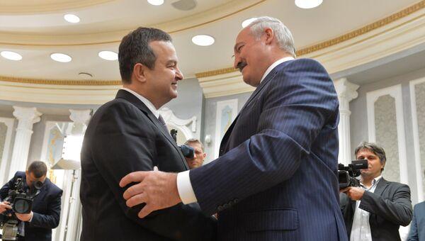 Встреча президента Республики Белоруссия Александра Лукашенко с действующим председателем ОБСЕ Ивицей Дачичем