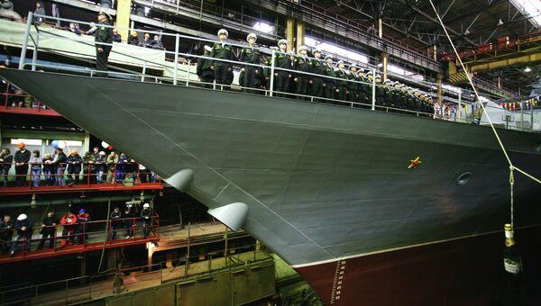 Корвет проекта 20380 на Амурском судостроительном заводе. Архивное фото