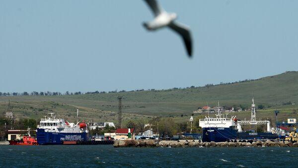Суда в порту Керченской паромной переправы. архивное фото