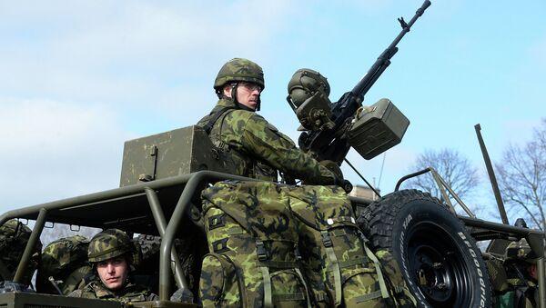 Военнослужащие чешской армии во время совместных учений войск НАТО. Архивное фото