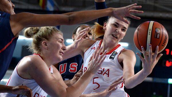Баскетбол. Чемпионат мира среди девушек до 19 лет. Матч Россия - США