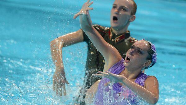 Дарина Валитова и Александр Мальцев выступают на чемпионате мира в Казани