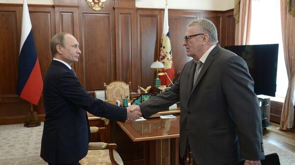 Встреча президента РФ В.Путина и с лидером ЛДПР В.Жириновским
