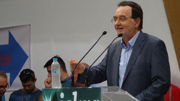 Лидер левой платформы правящей Коалиции радикальных левых (СИРИЗА) Панайотис Лафазанис