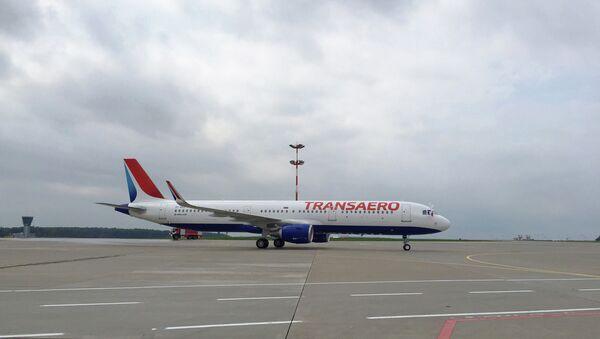 Самолет Airbus А321 авиакомпании Трансаэро