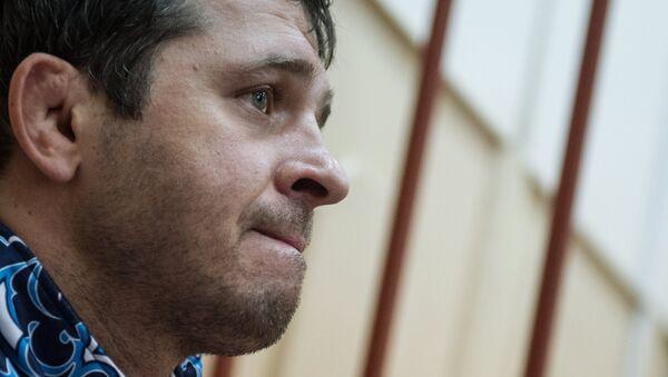 Глава Кизлярского района Дагестана Андрей Виноградов во время заседания Басманного суда города Москвы
