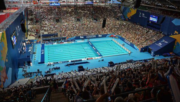 Бассейн XVI Чемпионата мира ФИНА по водным видам спорта на стадионе Казань-Арена в Казани