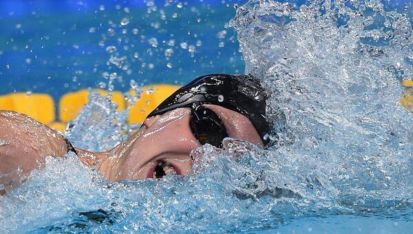 Кэти Ледеки (США) на дистанции 400 м вольным стилем среди женщин. Архивное фото