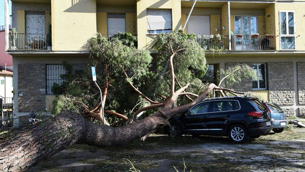Последствия торнадо во Флоренции. 2 августа 2015
