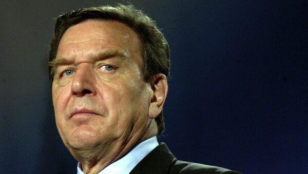 Экс-канцлер Германии Герхард Шредер. Архивное фото.