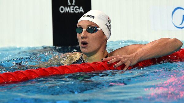 Венгерская пловчиха Катинка Хошсу. Архивное фото