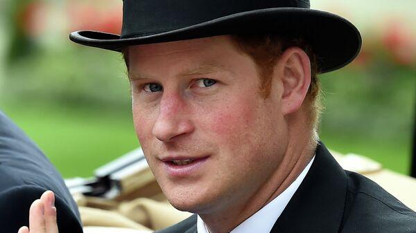 Британский принц Гарри на скачках Royal Ascot
