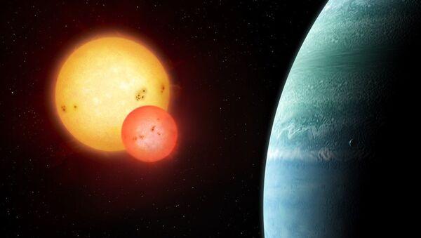 Так художник представил себе татуин Kepler-453