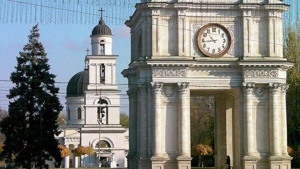 Триумфальная арка в Кишиневе. Архивное фото