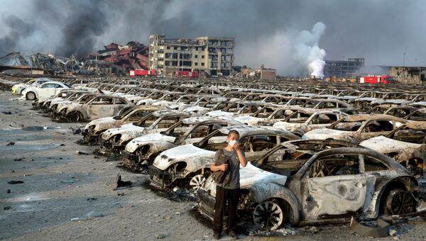 Последствия взрывов в городе Тяньцзинь, Китай. Архивное фото