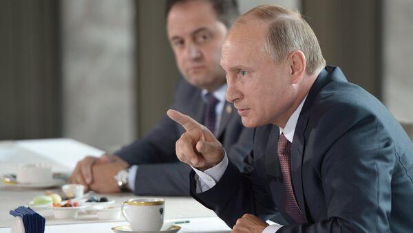 Встреча президента РФ В.Путина с представителями национальных общественных объединений Крыма