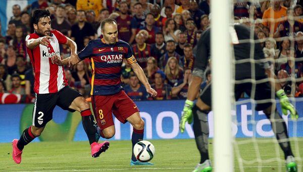 Ответный матч Атлетика из Бильбао с Барселоной на Суперкубке Испании