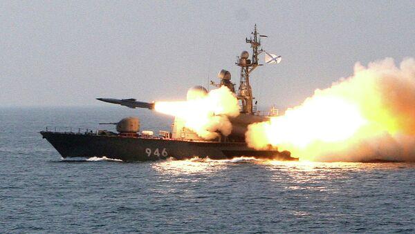 Учения кораблей Тихоокеанского флота. Архивное фото