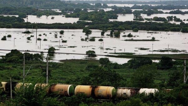 Затопленные окраины Уссурийска. Архивное фото