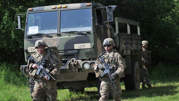 Военные НАТО на Украине. Архивное фото