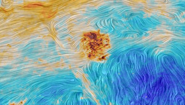 Фотография, полученная телескопом Планк при наблюдении за Магеллановыми Облаками