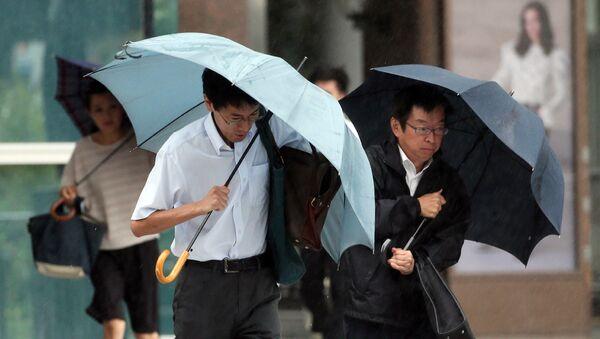 Сильный дождь в Японии. Архивное фото