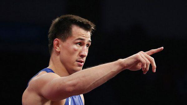 Российский борец Роман Власов после победы на чемпионате мира по борьбе в Лас-Вегасе