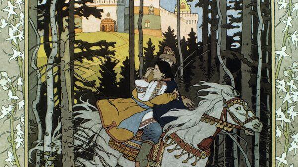 Иллюстрация к сказке Марья Моревна. Фрагмент