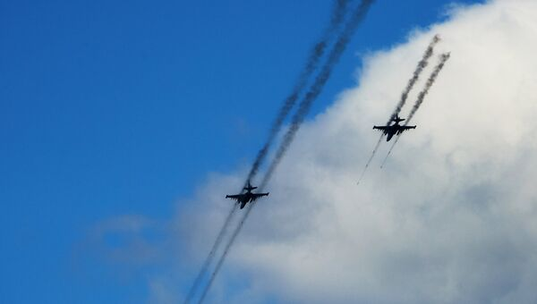 Самолеты Су-25, архивное фото