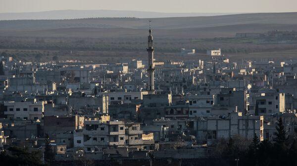 Вид на разрушенный сирийский город Айн-эль-Араб, также известен как Кобани. Архивное фото