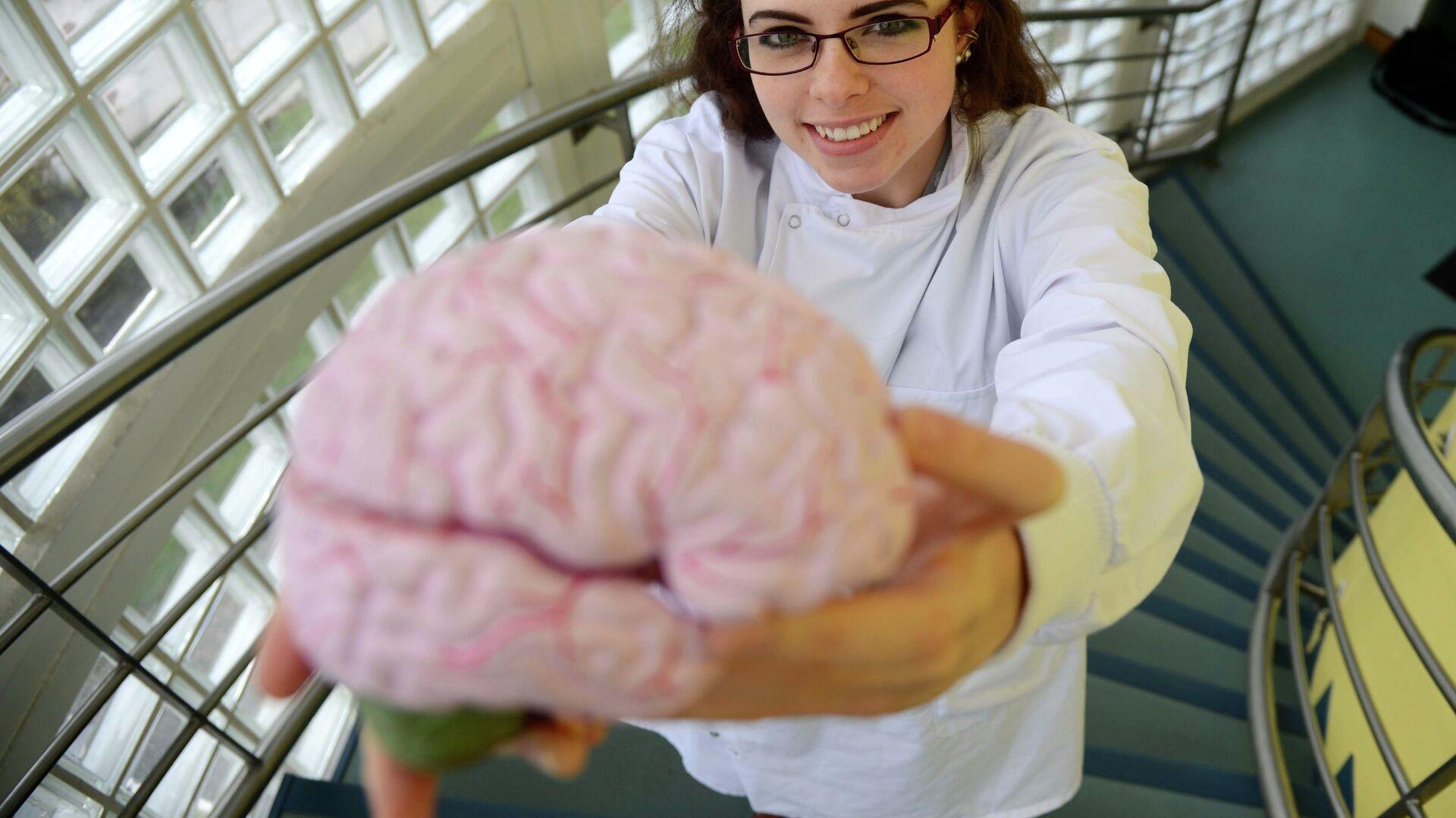 Ученый держит в руках мозг человека, страдавшего болезнью Альцгеймера - РИА Новости, 1920, 08.04.2021