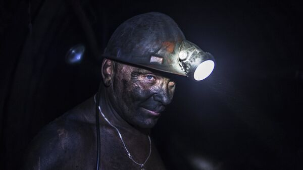 Работа шахты Заря в Донецкой области. Архивное фото