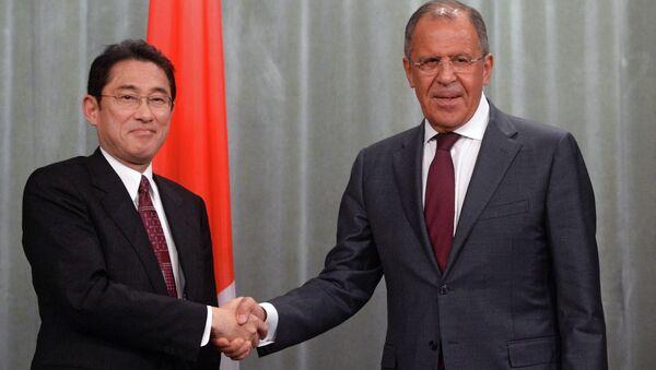 Встреча министров иностранных дел РФ и Японии С.Лаврова и Ф.Кисиды