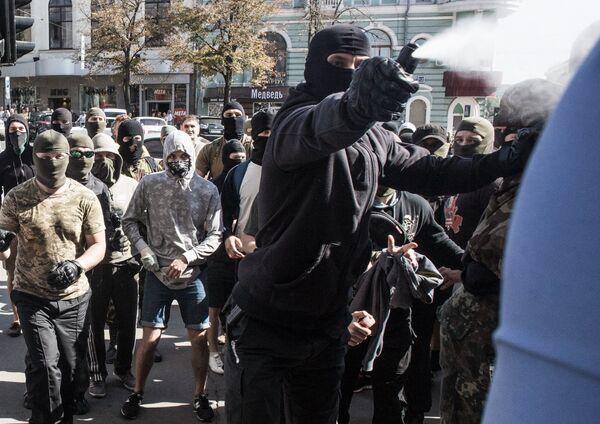 Протестующие у здания городского совета Харькова
