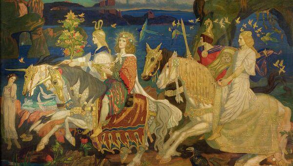 Всадники сида. Джон Дункан, 1911