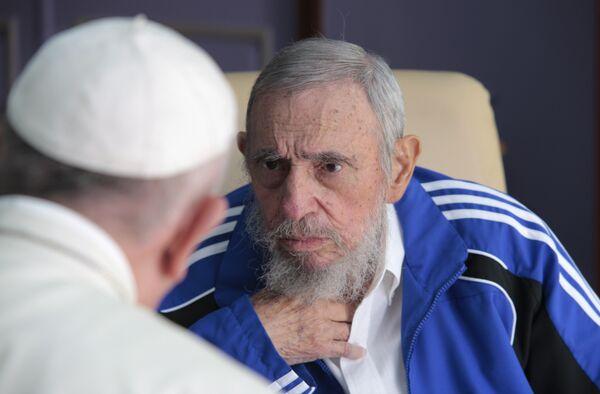 Встреча Папы Римского Франциска и Фиделя Кастро в Гаване