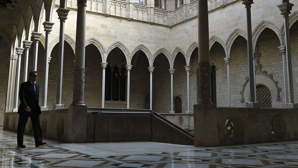Президент Женералитета Каталонии Артур Мас в Палау, здании Женералитета Каталонии