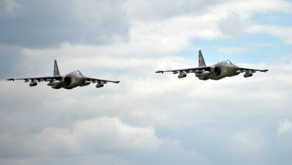 Самолеты Су-25. Архив