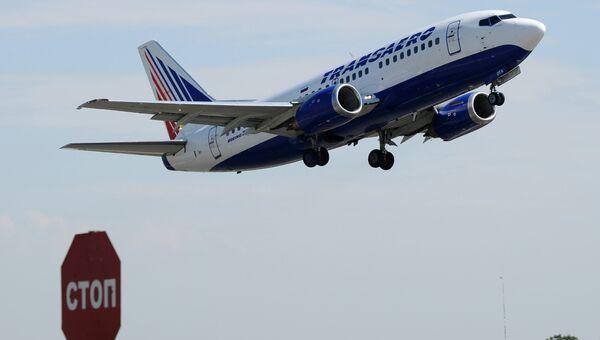 Самолет компании Трансаэро. Архивное фото