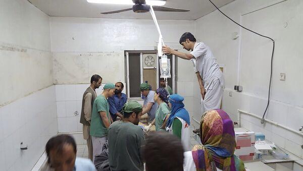 Больница Врачей без границ в Кундузе после удара с воздуха