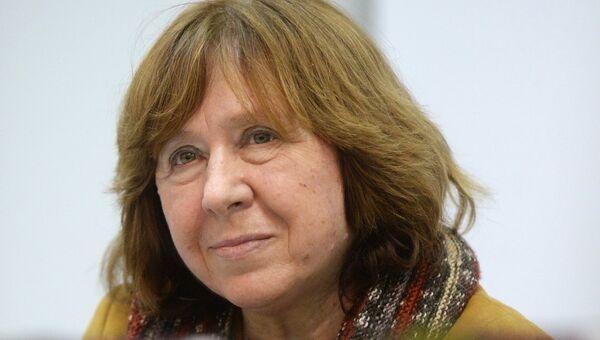 Белорусская писательница Светлана Алексиевич. Архивное фото