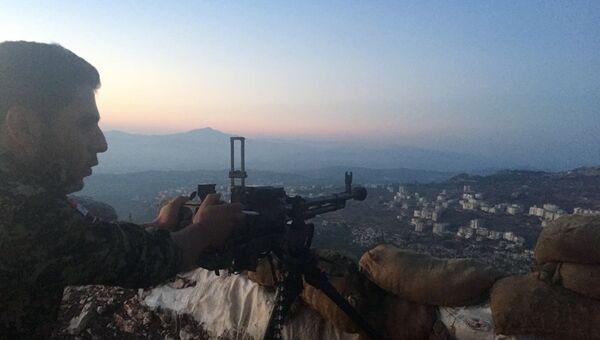 Позиция сирийской армии. Архивное фото