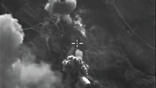 Российские бомбардировщики Су-24м нанесли точечные авиационные удары. Архивное фото