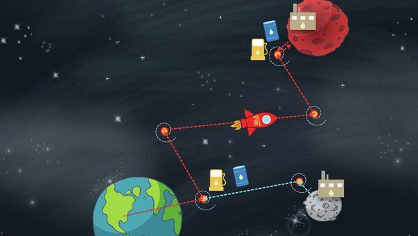 Так художник из MIT представил себе «дозаправку» космических кораблей на пути к Марсу