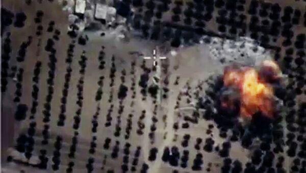 Точечные авиационные удары по укрытиям и складам ГСМ в провинции Идлиб