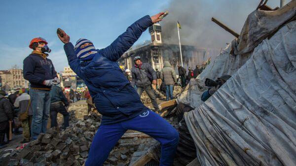 Сторонники оппозиции на площади Независимости в Киеве. Архивное фото