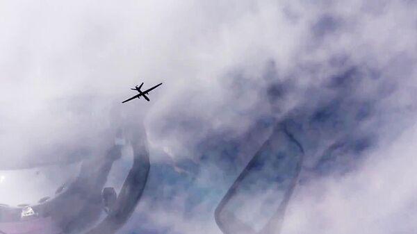 Беспилотник в небе Сирии. Архивное фото