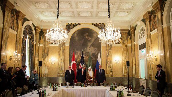 Министерская встреча России, США, Саудовской Аравии и Турции по Сирии в Вене. Архивное фото